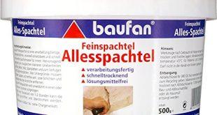Baufan Alles SpachtelFeinspachtel zum Ausbessern und Glaetten 500 g 310x165 - Baufan Alles Spachtel/Feinspachtel, zum Ausbessern und Glätten, 500 g