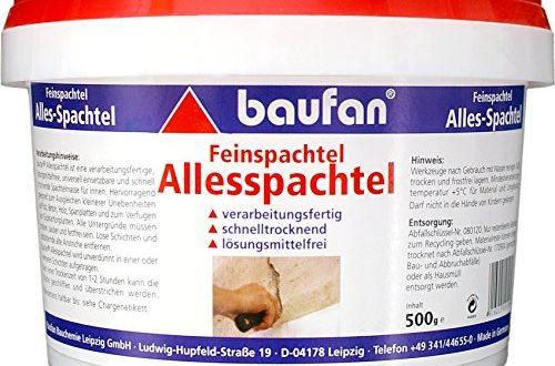 Baufan Alles SpachtelFeinspachtel zum Ausbessern und Glaetten 500 g 500x330 - Baufan Alles Spachtel/Feinspachtel, zum Ausbessern und Glätten, 500 g
