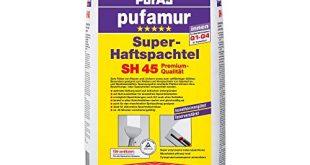 Pufas SH45 pufamur Super Haftspachtel Kunstharzverguetete faserverstaerkte Gipsspachtelmasse fuer innen weiss 310x165 - Pufas SH45 pufamur Super-Haftspachtel Kunstharzvergütete, faserverstärkte Gipsspachtelmasse für innen, weiß, 25kg